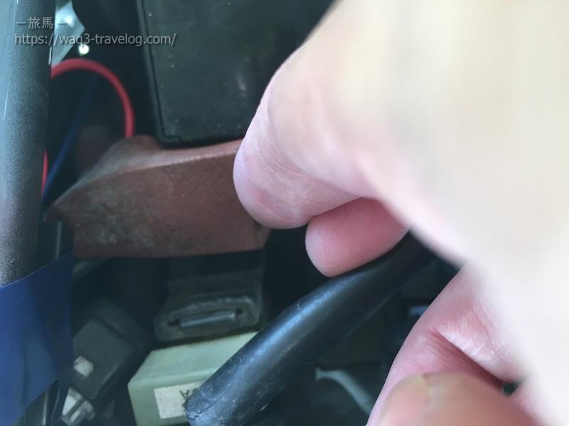 バッテリーのプラス端子
