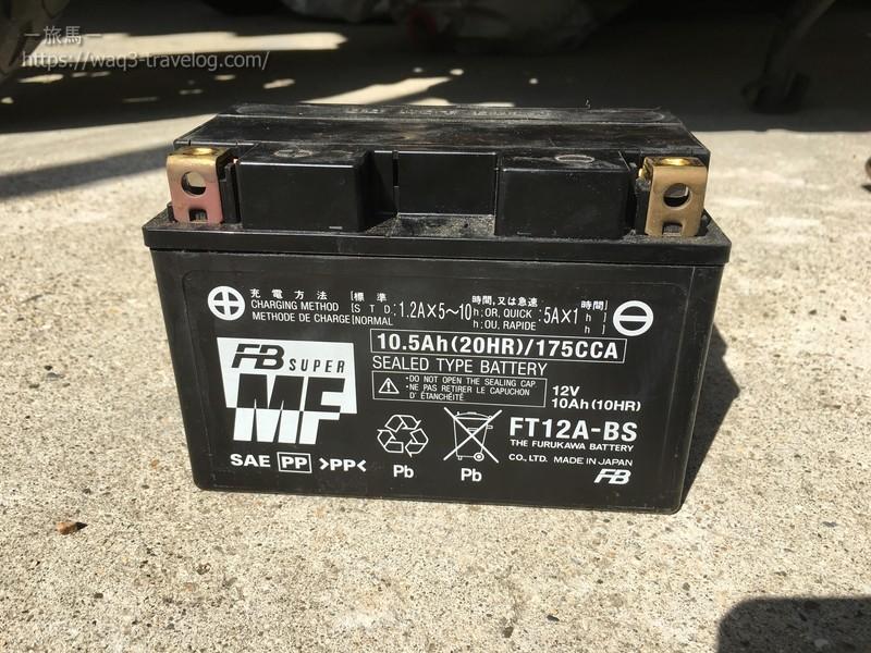 純正バッテリーFT12A-BS
