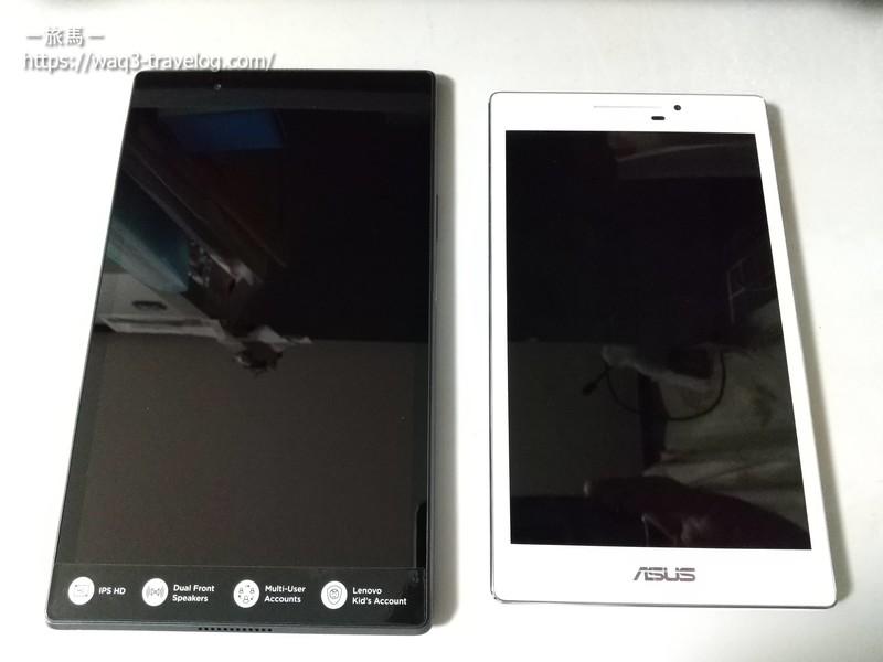 Lenovo tab4 8とASUS ZenPad 7.0 (Z370KL)