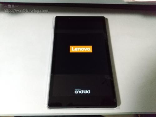 Lenovo tab4 8の起動画面