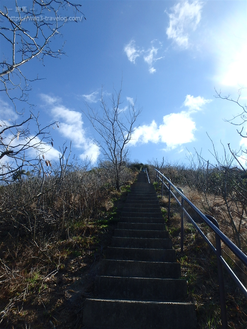 横尾山への階段